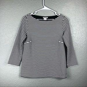 Club Monaco striped black white pullover Small top